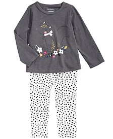 First Impressions Baby Girls Squirrel T-Shirt & Animal-Print Leggings, Created For Macy's