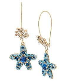 Betsey Johnson Star Fish Long Drop Earrings