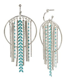 BCBGeneration Mixed Chain Fringe Gypsy Hoop Earrings
