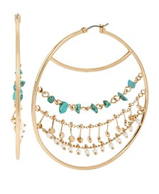 BCBGeneration Mixed Charm Multi Chain Hoop Earrings