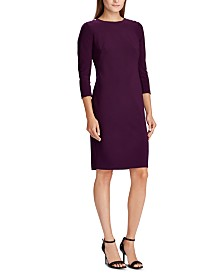 Lauren Ralph Lauren Petite Snapped-Shoulder Jersey Dress
