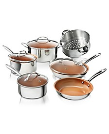 10-Pc. Pro Chef Non-Stick Ti-Cerama Premium Cookware Set with Lids