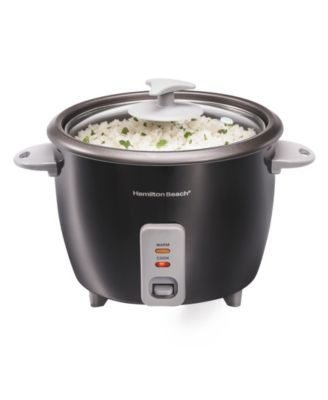 Rice Cooker 30 Cup Auto Warm Electric Glass Lid Dishwasher Safe Nonstick Bowl