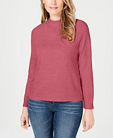 Zip-Back Mock-Neck Sweater, Created for Macy's