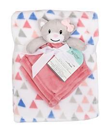 Baby's First by Nemcor 2-Piece Blanket Buddy Set, Pink Cat
