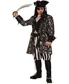 Buy Seasons Men's Captain Sterling Skull Costume