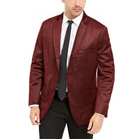 Alfani Men's Classic-Fit Micro Geometric Velvet Sport Coat