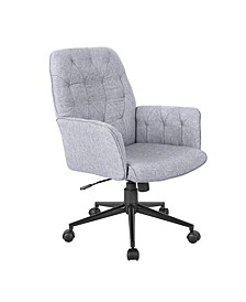 Techni Mobili Tufted Office Chair, Quick Ship