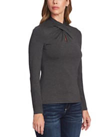 Vince Camuto Twist-Neck Top