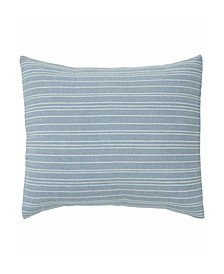 Riverside Dusty Blue Embroidered Throw Pillow