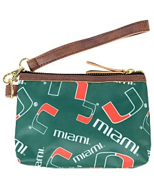 Forever Collectibles Miami Hurricanes Printed Collection Wristlet