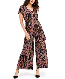 Belted Asymmetrical Jumpsuit, Created For Macy's