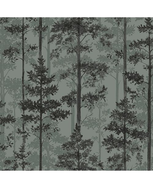 "Engblad & Co Engblad Co 21"" x 396"" Pine Silhouette Trees Wallpaper"