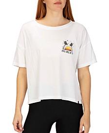 Cotton Sun Stripes Graphic T-Shirt