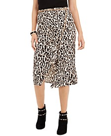 Leopard-Print Ruffle-Trim Skirt, Created For Macy's