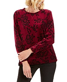 Sport Printed Flocked Sweatshirt, Created for Macy's