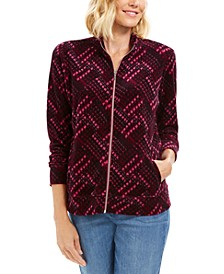 Petite Plaid Zip-Front Jacket, Created For Macy's