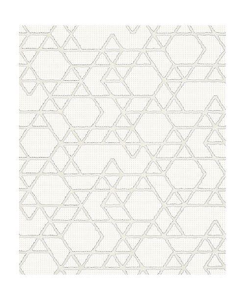 "Marburg 20.5"" x 396"" Montego Geometric Wallpaper"