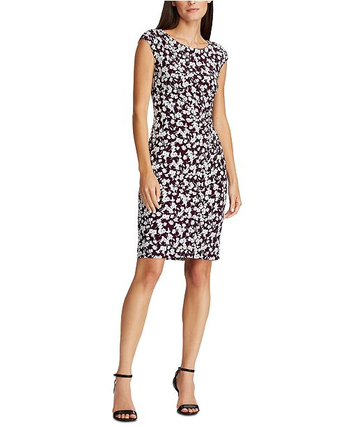 Lauren Ralph Lauren Floral Cap-Sleeve Dress