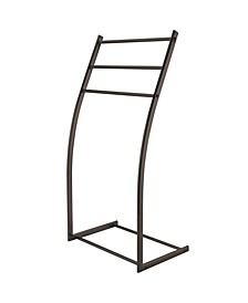 Modern Pedestal Steel Construction Towel Rack