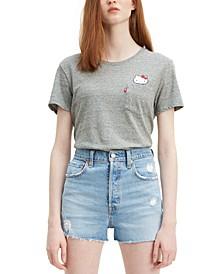 Cotton Perfect Pocket Hello Kitty Graphic T-Shirt