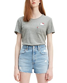 Levi's® Cotton Perfect Pocket Hello Kitty Graphic T-Shirt