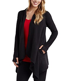 Women's Fleece with Stretch Long-Sleeve Hooded Wrap