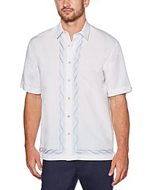 Men's Swirl Pattern Short Sleeve Shirt