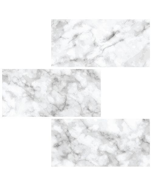 InHome Subway Carrara Peel Stick Backsplash Tiles