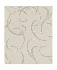 "20"" x 369"" Lysander Scrolls Wallpaper"