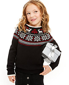 Charter Club Little Girls Fair Isle Family Sweater, Created For Macy's
