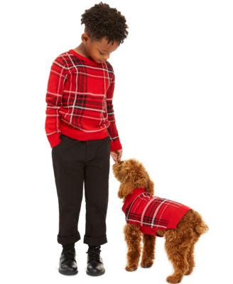 Little Boys Plaid Family Sweater, Created For Macy's
