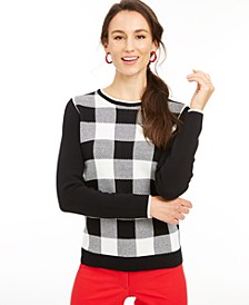 Buffalo Check Family Sweater, Created For Macy's