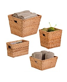 Honey Can Do 4-Pc. Natural Water Hyacinth Basket Set
