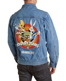 Member's Only Men's Looney Tunes Denim Trucker Jacket