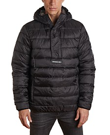 Member's Only Men's Lightweight Popover Puffer Jacket