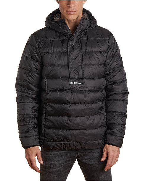 Member's Only Men's Lightweight Popover Puffer Jacket