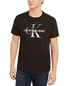 Men's Metallic Monogram Logo Graphic T-Shirt