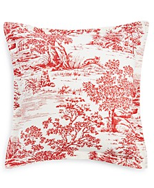 Fox Toile Flannel European Sham, Created for Macy's