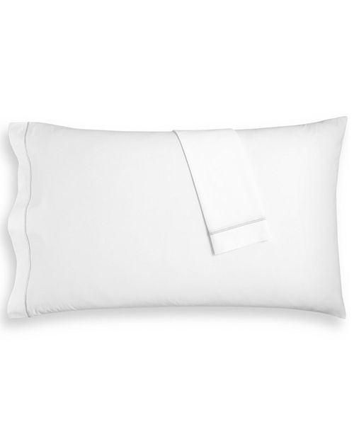 Hotel Collection Set of Two Italian Percale Standard Pillowcases, 100% Cotton, Created for Macy's
