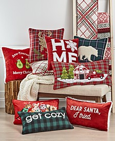 Holiday Lodge Cotton Decorative Pillow and Throw Collection