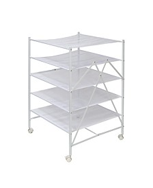 5-Tier Collapsible Rolling Clothes Drying Rack