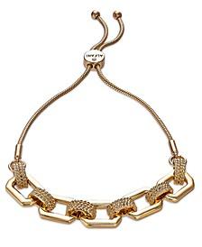 Link & Snake-Chain Slider Bracelet, Created For Macy's