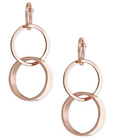 Rose Gold-Tone Multi-Ring Drop Earrings, Created for Macy's