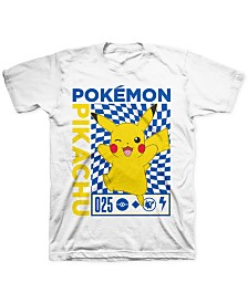Pokemon Big Boys Pikachu Checker T-Shirt