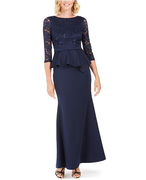 Jessica Howard Peplum Gown
