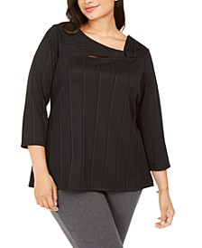 Plus Size Asymmetrical Twist Top, Created For Macy's