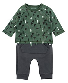 Baby Boy 2-Piece Tee and Pant Outfit Set
