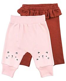 Baby Girl 2-Pack Pant In Cat Print