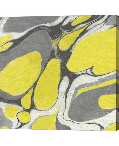"""Metaverse Yellow and Gray Marble II by Nancy Green Canvas Art, 24"""" x 24"""""""